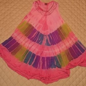Dresses & Skirts - Tie dye hippie boho dress! Pink blue purple green